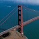 This is an areal view of the golden gate bridge.